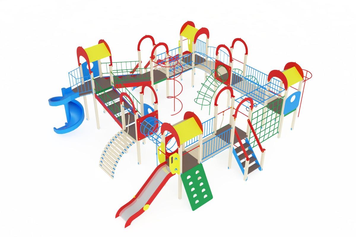 Купить Детский игровой комплекс ОстровдетстваМАФ988х996х400 см Дик803, МАФ