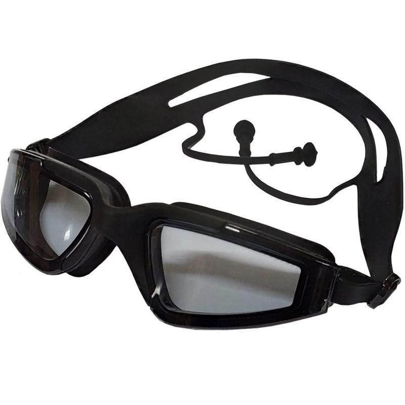 Купить Очки для плавания с берушами B31545-8 Черный, NoBrand