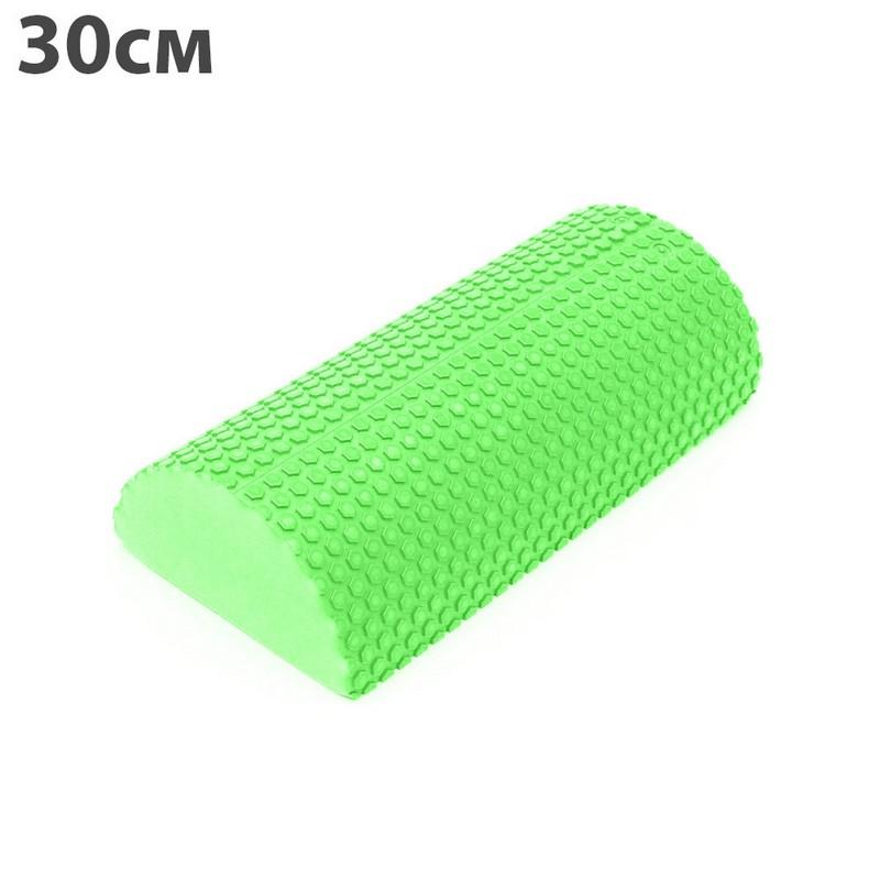 Купить Ролик для йоги полукруг 30x15х7,5cm ЭВА C28846-4 зеленый, NoBrand