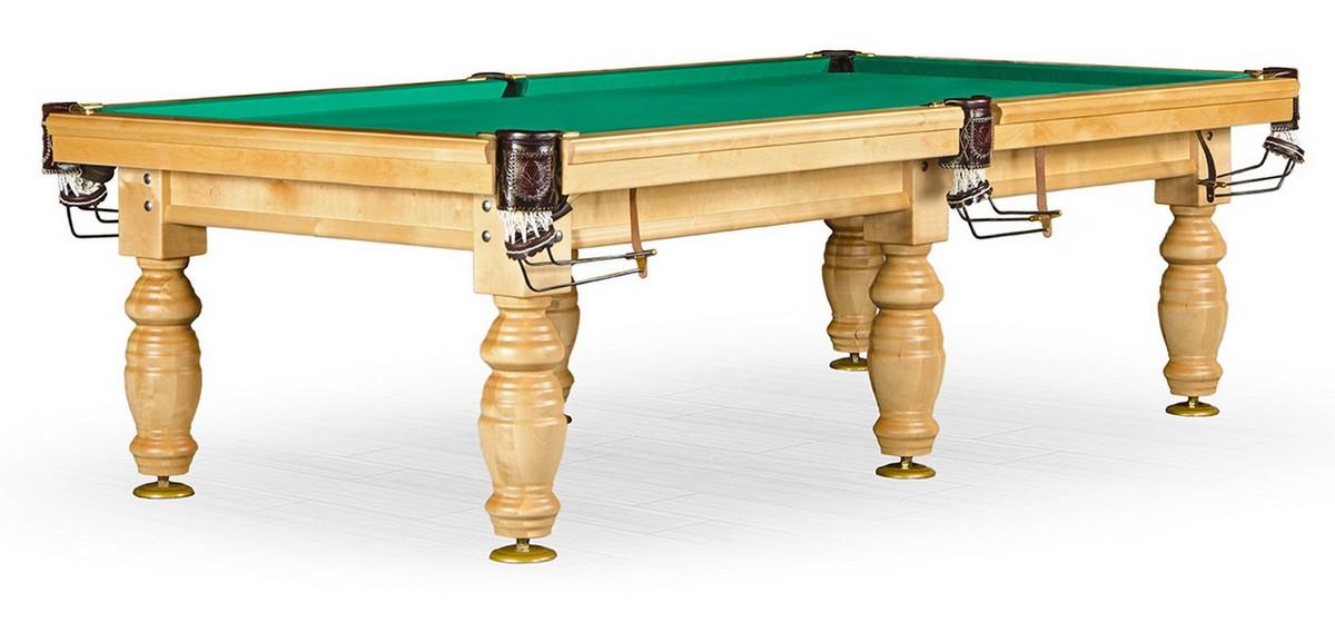 Бильярдный стол Дебют 10 ф, светлый, плита 25 мм, 6 ног KR10-25S-1