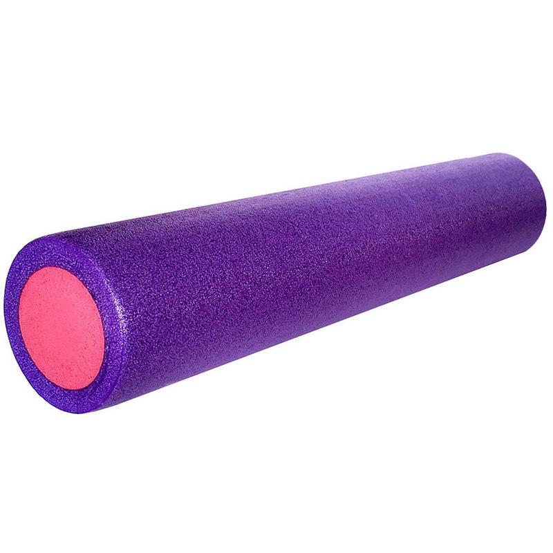 Купить Ролик для йоги полнотелый 2-х цветный (фиолетовр/розовый) 61х15см PEF100-61-C, NoBrand