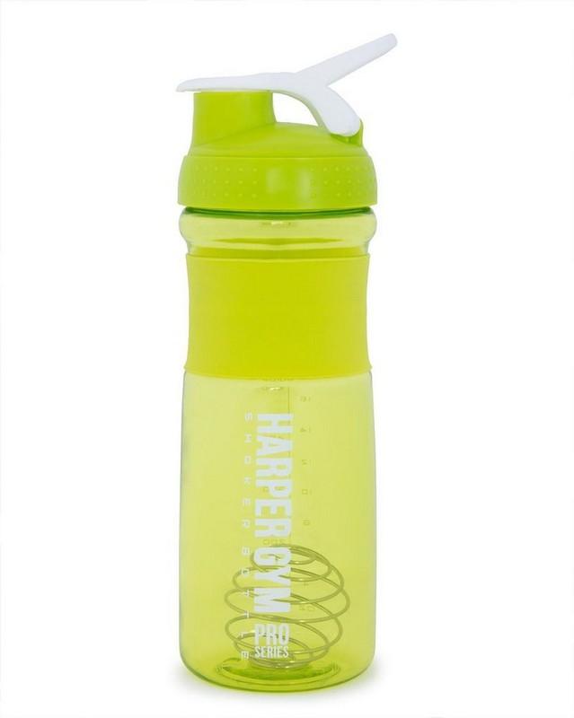 Купить Шейкер Harper Gym Shaker Bottle, с венчиком 700мл S19 лайм,