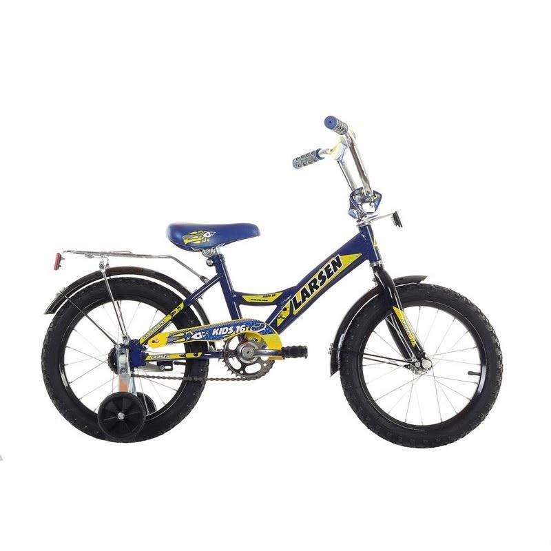 Велосипед Larsen Kids 16 2017 синий larsen kids