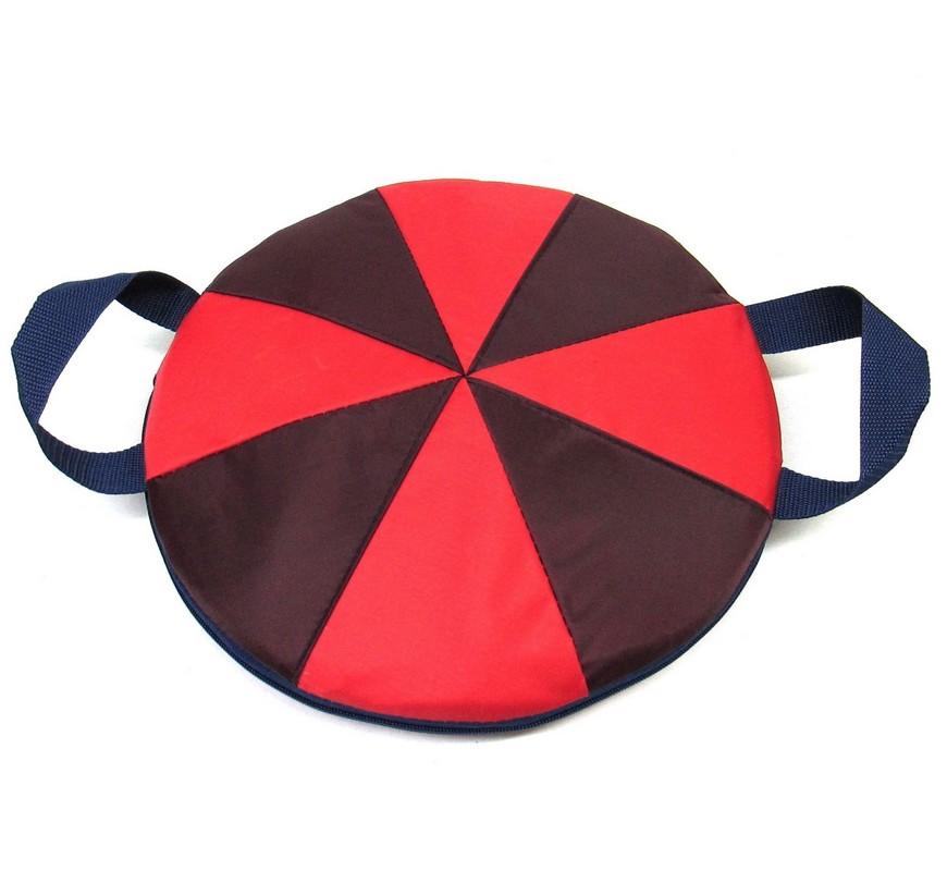 Ледянка мягкая круглая ComboSport D=40 см Плюшка Красный/желтый