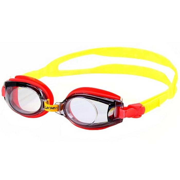 Купить Очки для плавания детские Larsen DR5 черный/красный,