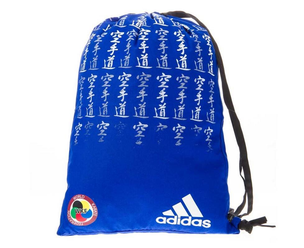 Мешок для кимоно Adidas Satin Carry Bag Karate WKF сине-белый adiACC125