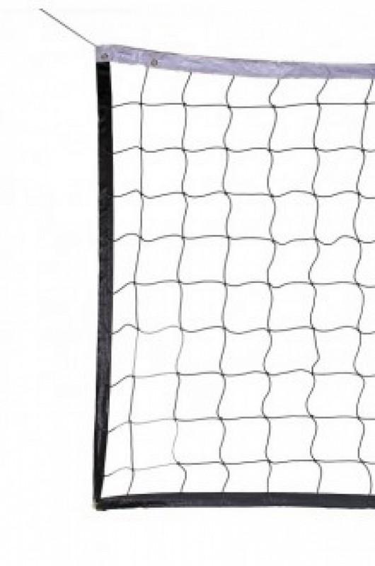 Сетка волейбол Д-3,5мм, яч 100x100, цв. бел-зел, 1,0x9,5м обш. с 4-х сторон, верх лентПП