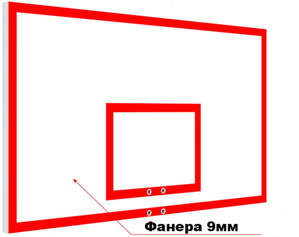 Купить Щит баскетбольный игровой из фанеры на металлическом каркасе Glav 01.206,