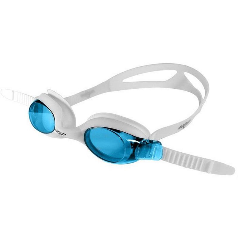 Купить Очки для плавания JR 10210-1 белоголубые, NoBrand