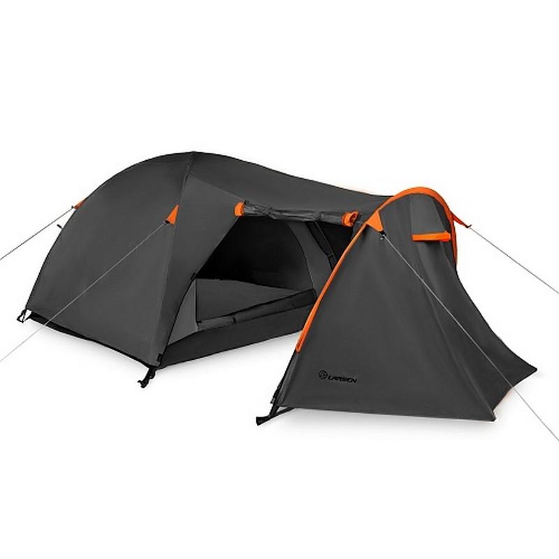 Палатка 3-х местная Larsen Nevada Plus серый\оранжев