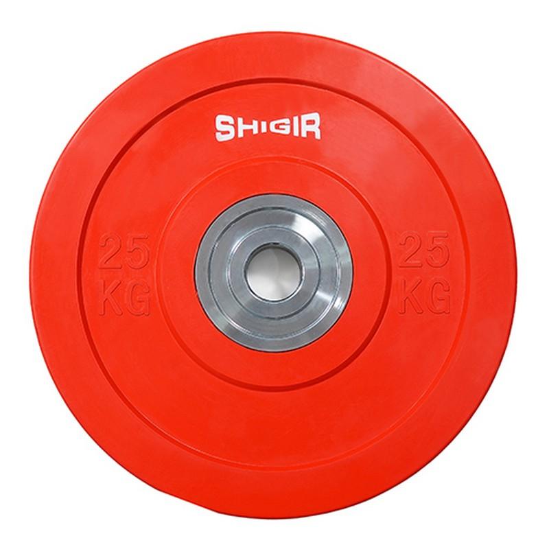 Купить Диск бамперный цветной для кроссфита 25 кг Iron King CR,