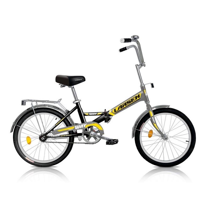 Картинка для Велосипед Larsen Way 1ск, черный\желтый