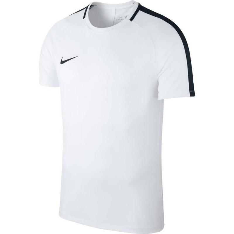 Футболка детская Nike Dry Acdmy18 Top Ss Jr 893750-100 тренировочная, белая