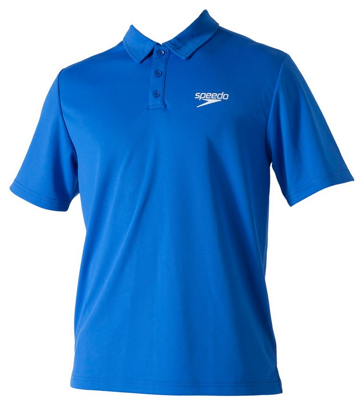 Футболка-поло Speedo Racer Unisex Technical Polo Shirt (101) синяя