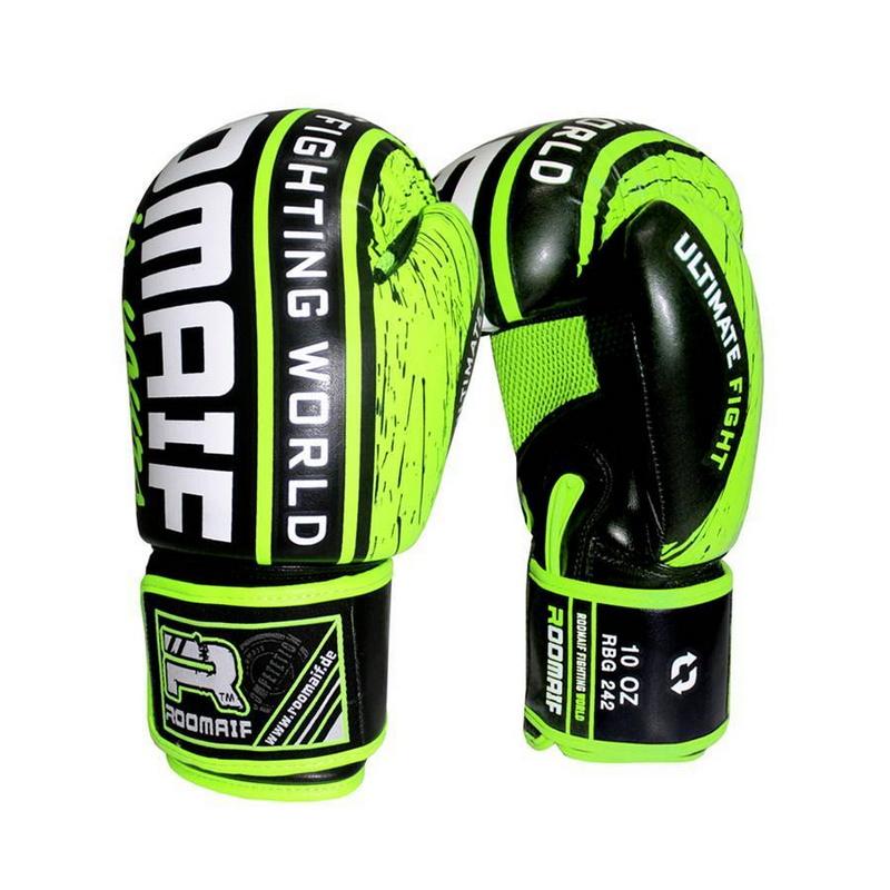 Боксеркие перчатки Roomaif RBG-242 Dx Lime 12 oz фото