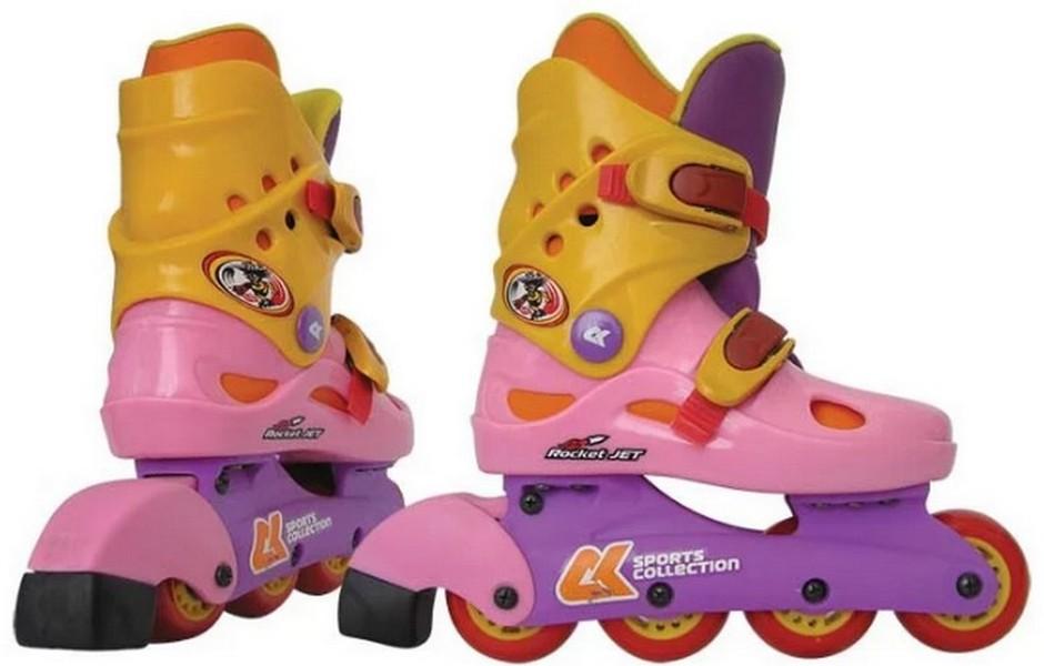 Роликовые коньки СК Rocker Jet розовый