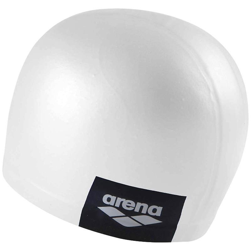 Купить Шапочка для плавания Arena Logo Moulded Cap 001912101-200, белый, силикон,