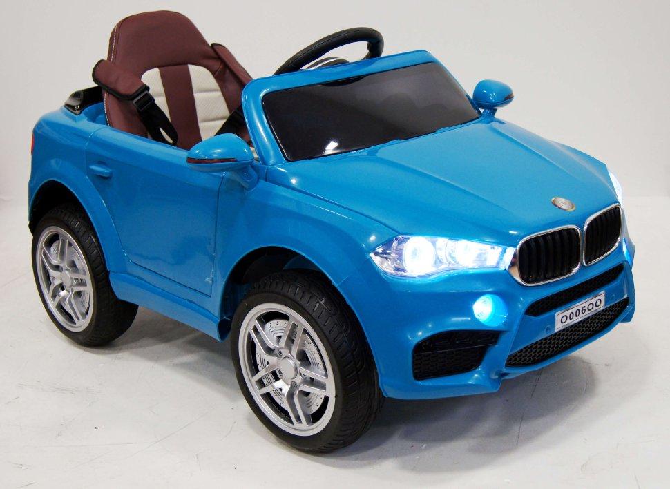 Купить Электромобиль River-Toys BMW O006OO VIP синий с ДУ, Детские электромобили