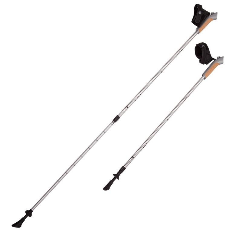 Купить Палки для скандинавской ходьбы RGX 2-секционные 85-135 см NWS-02A Серебристый,