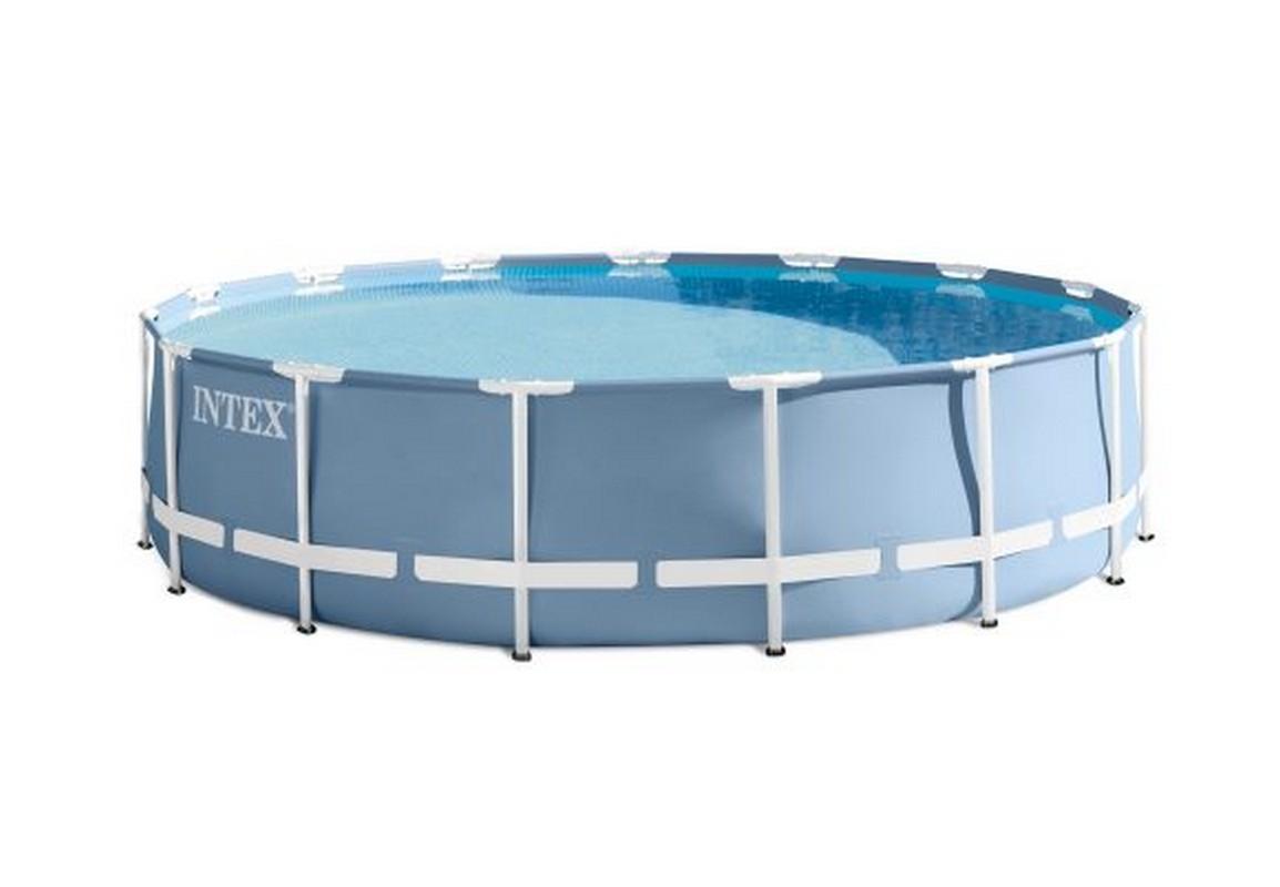 Бассейн каркасный 457х122 см Intex Prism Frame 28736 кровать comfort plush 152х203х56см со встроенным насосом 220в intex 64418