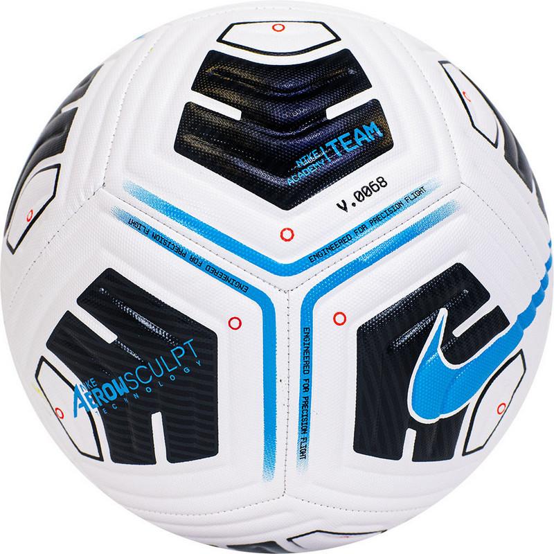 Мяч футбольный Nike Academy Team Ball, CU8047-102, р.4, 12пан, IMS, ТПУ, маш. сш, бело-черно-голуб