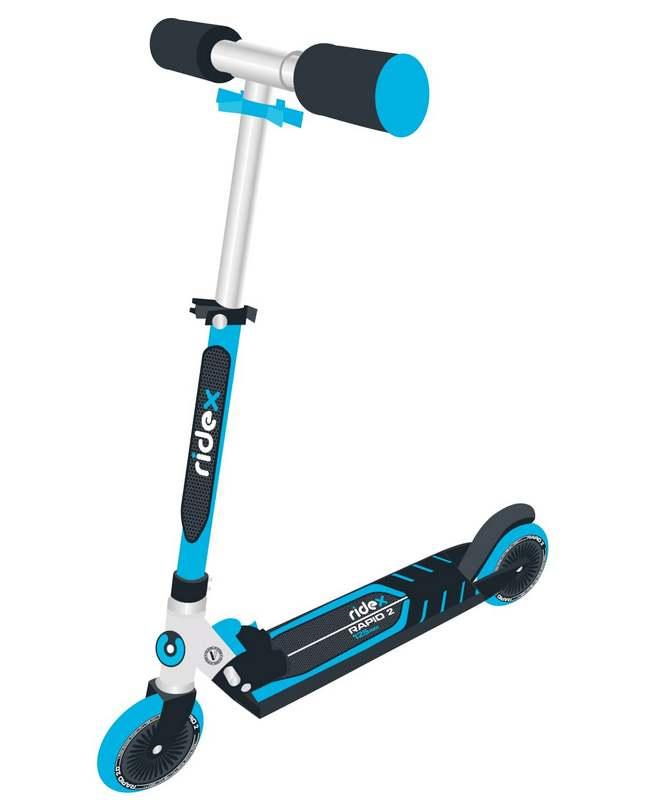 Купить Самокат 2-колесный Ridex Rapid 2 125 мм, синий,