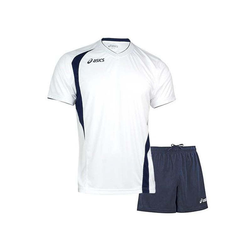 Волейбольная форма Asics Set End Man T227Z1-0150 футболка + шорты, бел/син