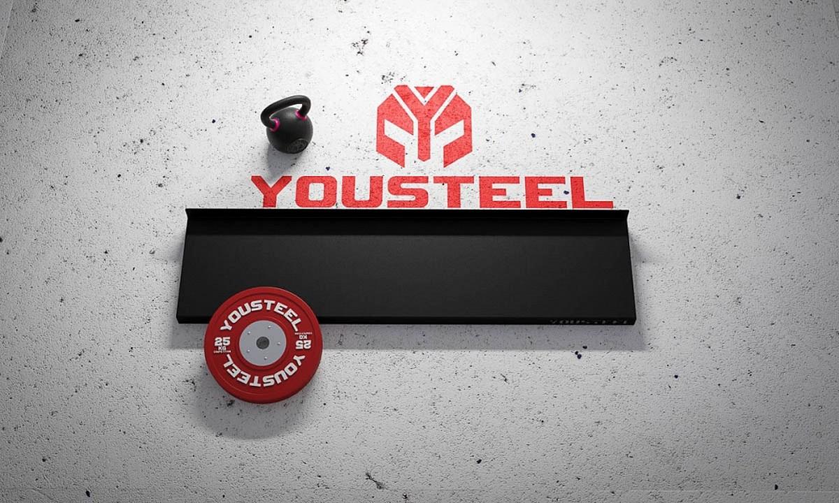 Полка стеллажа универсальная YouSteel для хранения гирь и гантелей, длина 110 cм