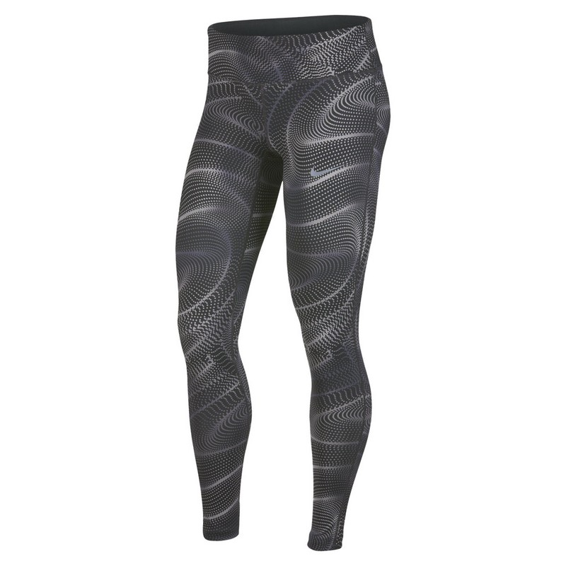 Тайтсы женские Nike Pwr Essntl Tght Pr W 890421-060 принт, серые тайтсы nike тайтсы w nk pwr tght racer cool
