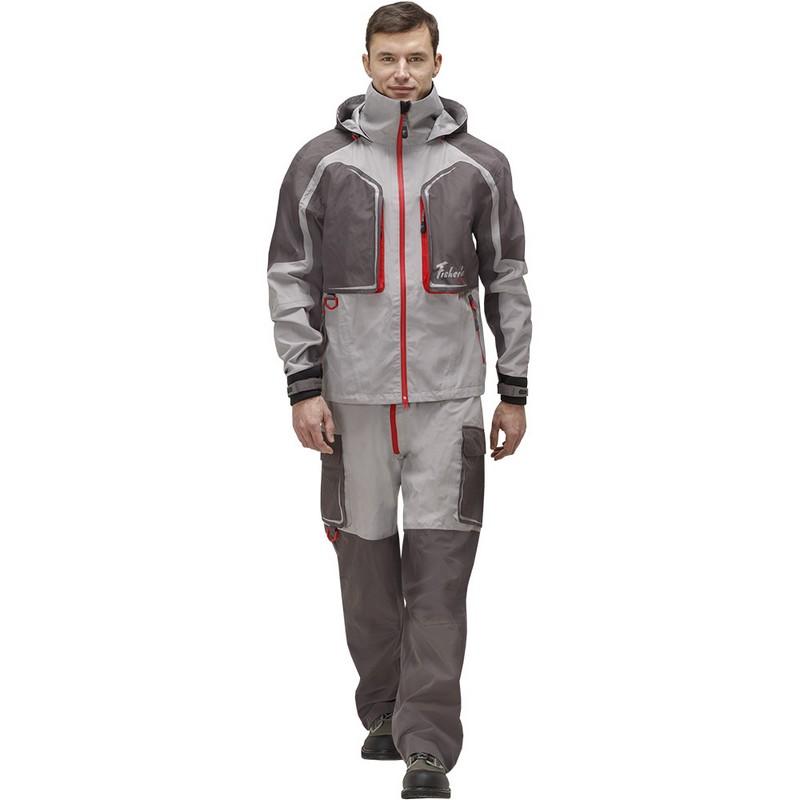 Куртка Fisherman Риф Prime мембранная 95938-055 серый/красный