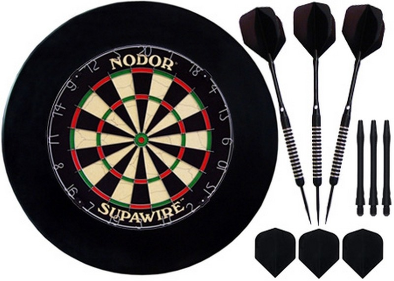 Комплект для игры в Дартс Nodor Black darts6 от Дом Спорта