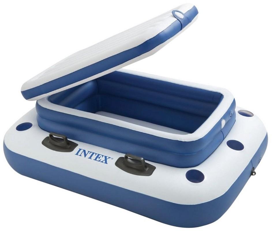 Купить Плавающий холодильник 122х97см River Runs Intex с подстаканниками 58821,