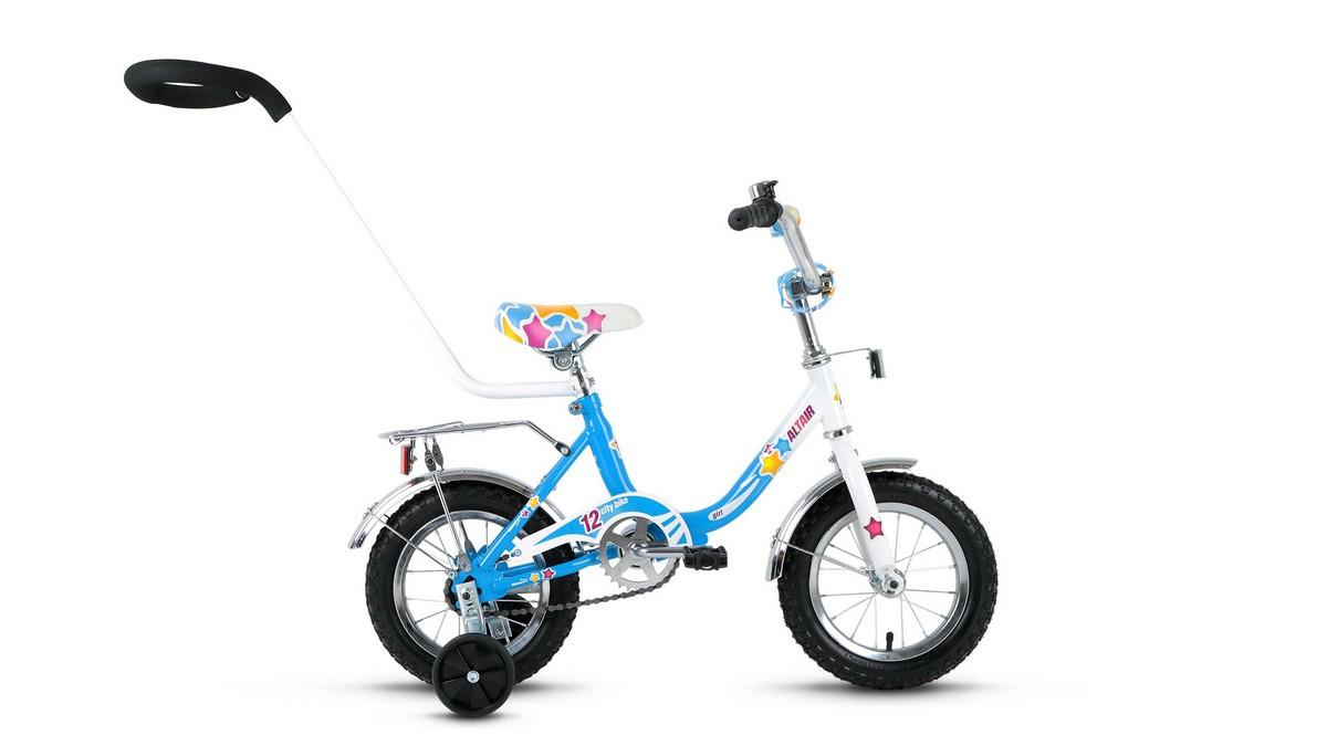 Детский велосипед Altair City Girl 12 (2017) белый-синий велосипед forward altair city girl 20 compact 2015