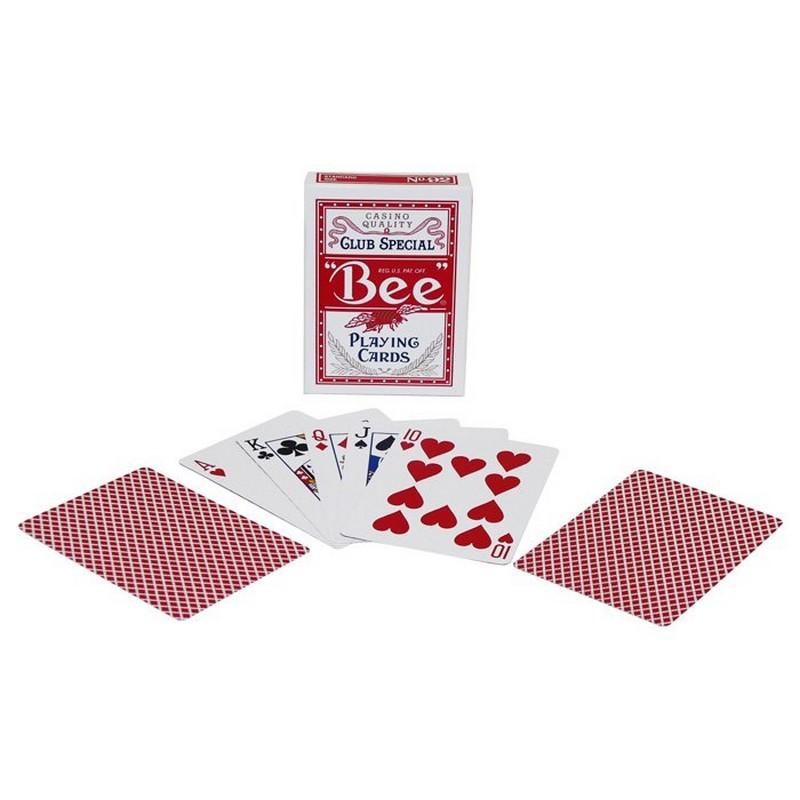 Купить Карты Bee Standart Index Red & Blue, красная рубашка 1004508-red, NoBrand