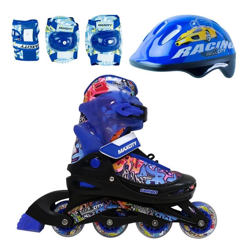 Роликовые коньки MaxCity Caribo combo boy синий стоимость