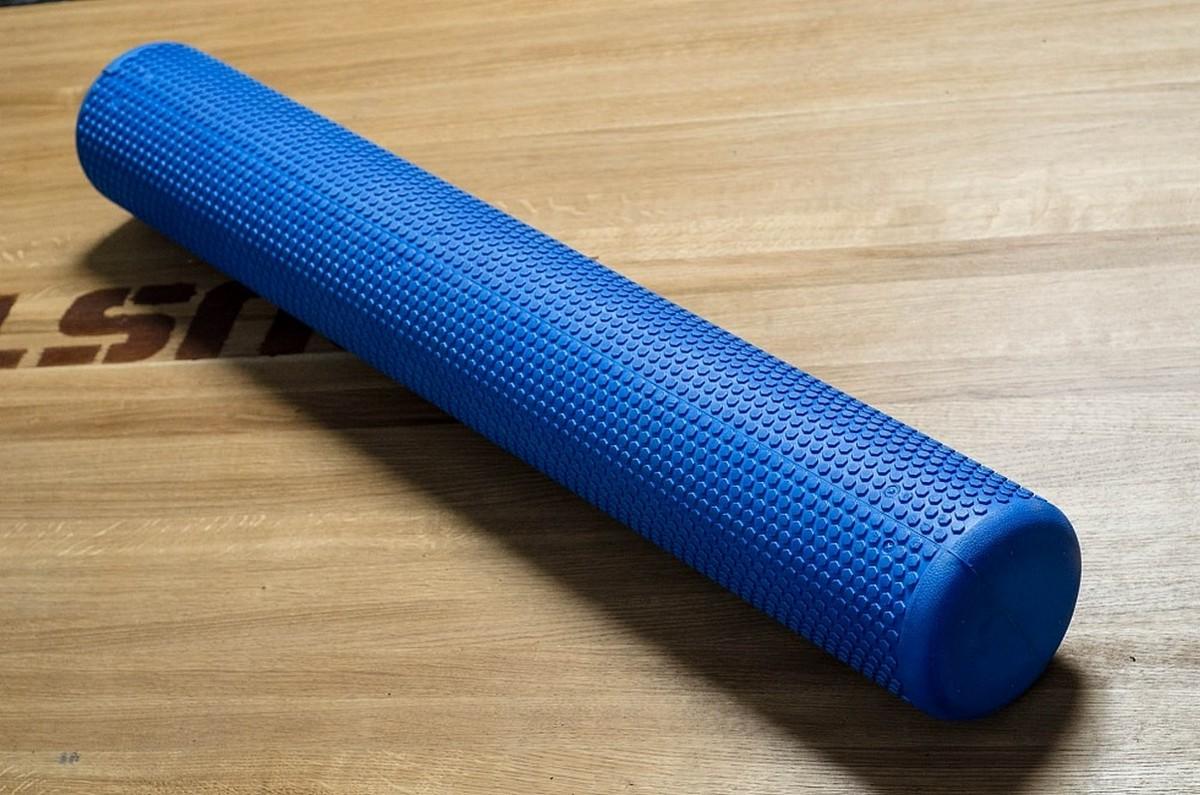 Купить Роллер массажный YouSteel Eva Foam Roller, 99x15см, синий,