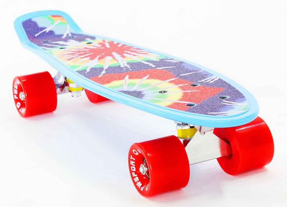 Скейтборд PWSport Grip 22 (Sunset) скейтборд с какого возраста можно начинать
