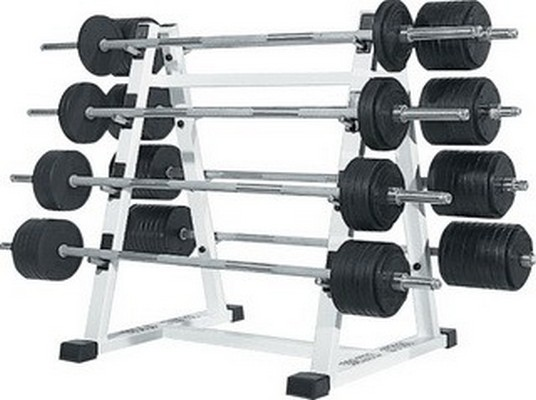 Стойка с набором Vasil Gym 8 штанг от 15 кг до 60 кг В.218