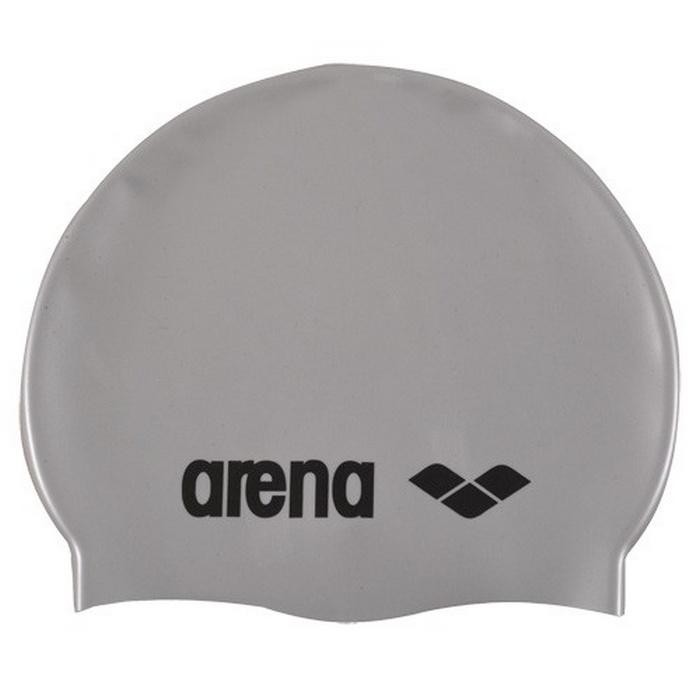 Шапочка для плавания Arena Classic Silicone Jr, детская, 9167051, серебристый,  - купить со скидкой