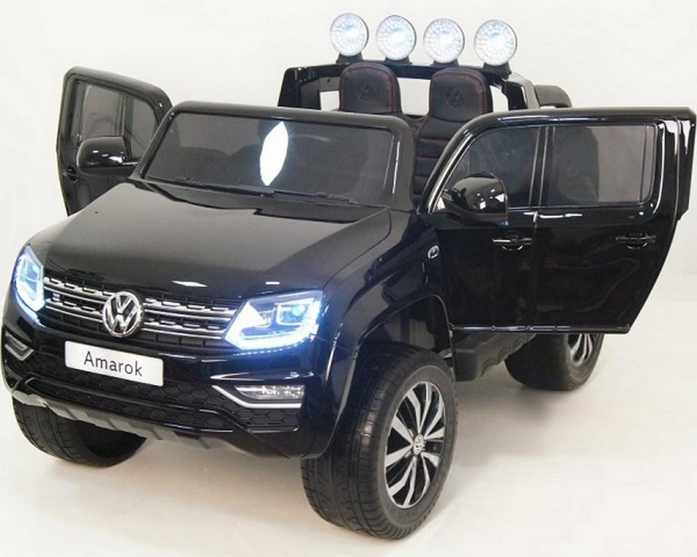 Купить Двухместный джип River-Toys Volkswagen Amarok M999MM черный глянец, Детские электромобили