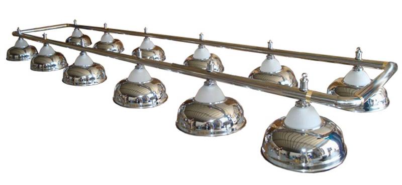 Лампа на двенадцать плафонов Crown D38 (серебристая) 75.015.12.0