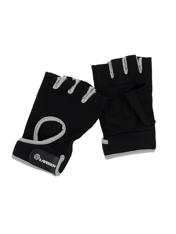 Перчатки для фитнеса Larsen NT558BG black/grey