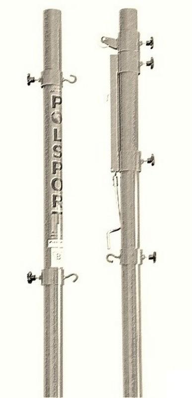Стойки волейбольные PolSport универсальные стальные оцинкованные с механизмом натяжения 2 шт.