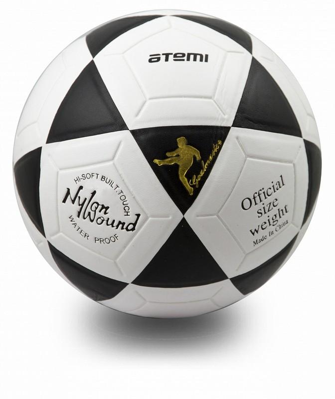 Купить Мяч футбольный Atemi Goal бело-черный р.5,