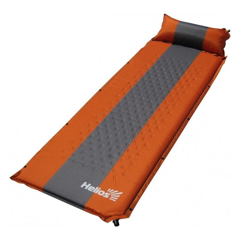 Коврик самонадувающийся Helios с подушкой 30-170x65x4 см HS-004P