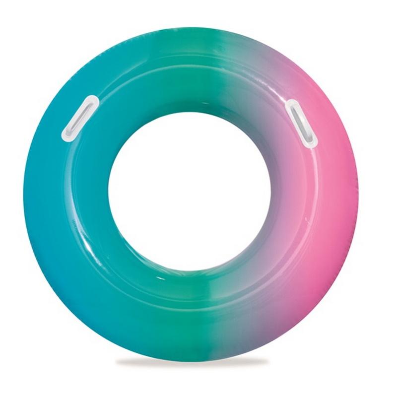 Купить Надувной круг для плавания с ручками Bestway Радуга 91 см, два цвета 36126,