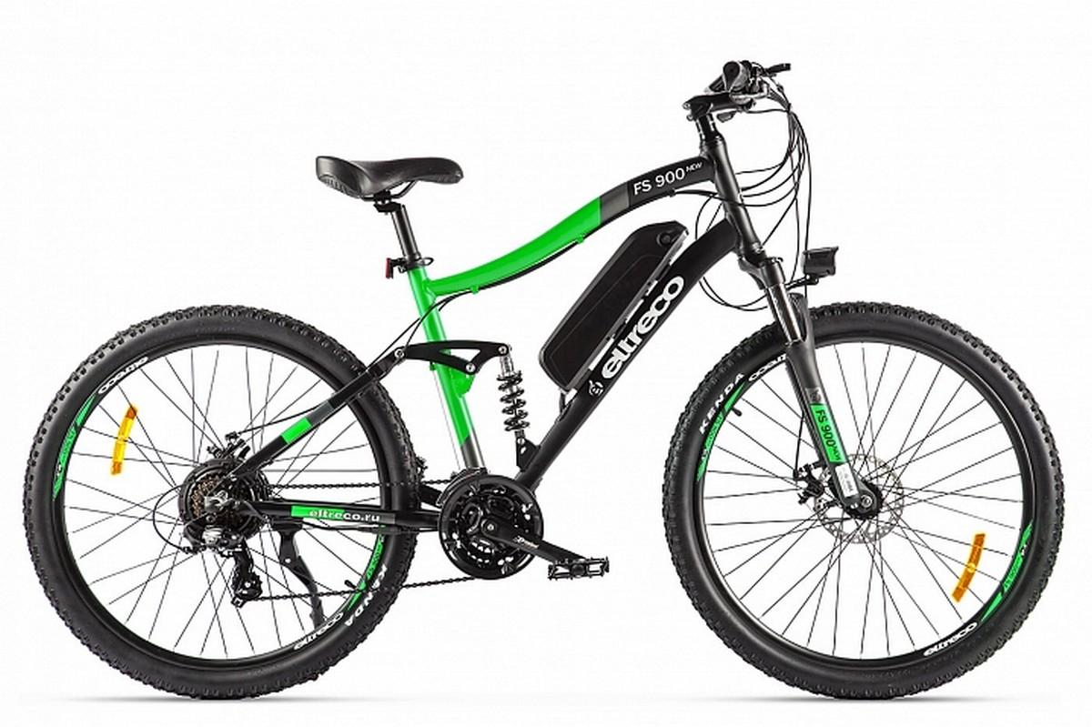 Велогибрид Eltreco FS900 new 022300-2206 черно-зеленый