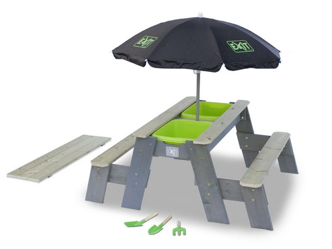 Песочница-трансформер с зонтом Акцент на высоких ножках Exit 80091 песочница акцент exit 80087