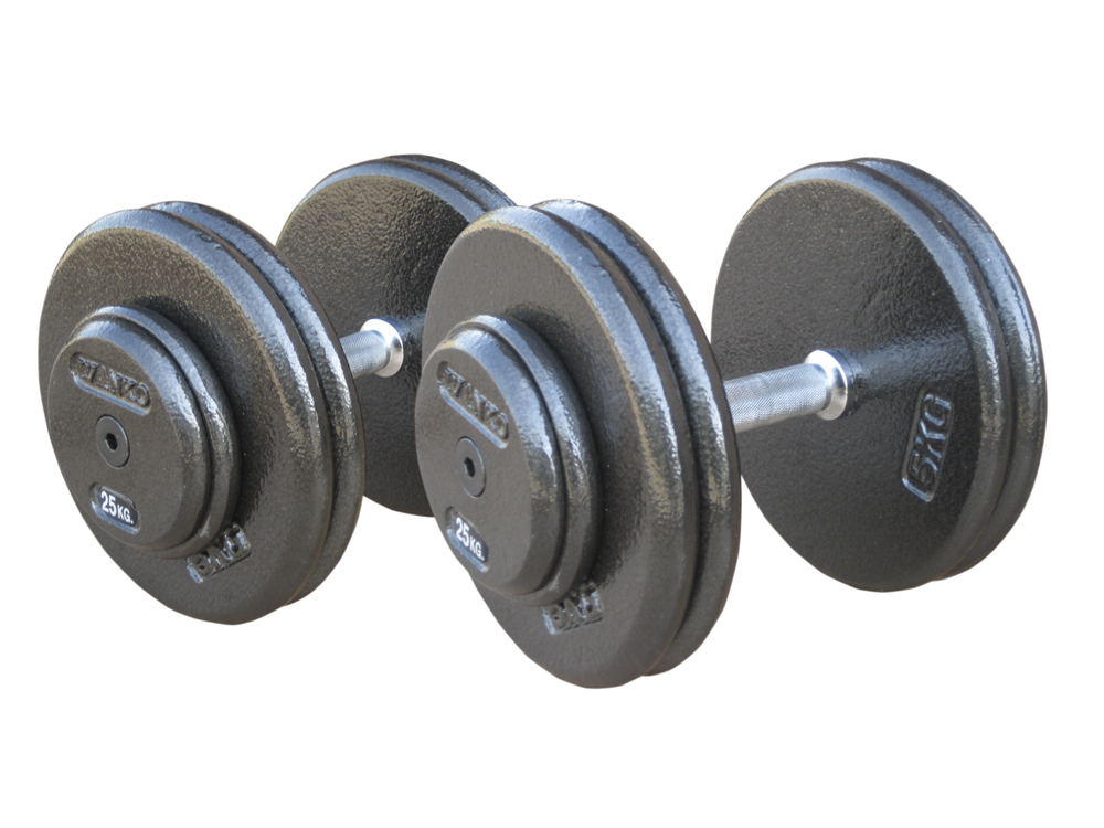 Купить Комплект гантелей металлических Johns 75070/12,5-20,