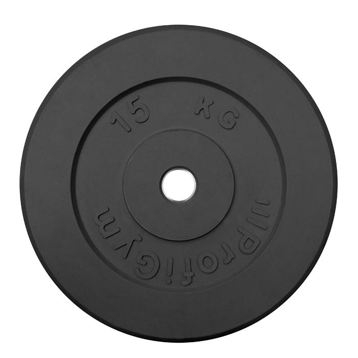 Купить Диск обрезиненный ProfiGym D31 мм чёрный 15,0 кг ДТР-15/51,